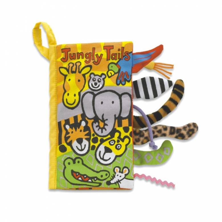 Jungly Tails Soft Fabric Book By Jellycat 0+