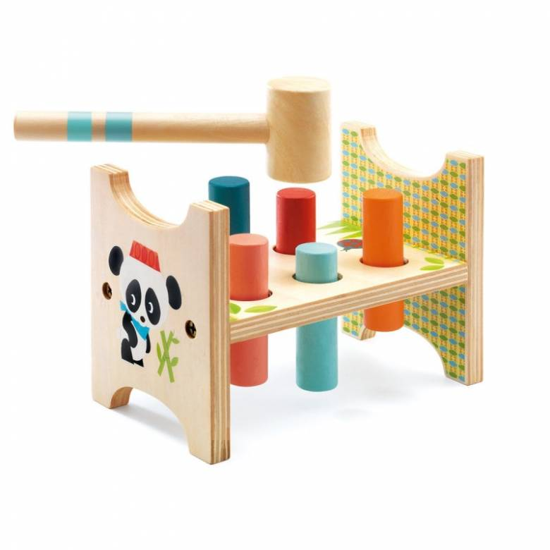 Junzo Taptap Wooden Hammer Tap Toy By Djeco 18m+