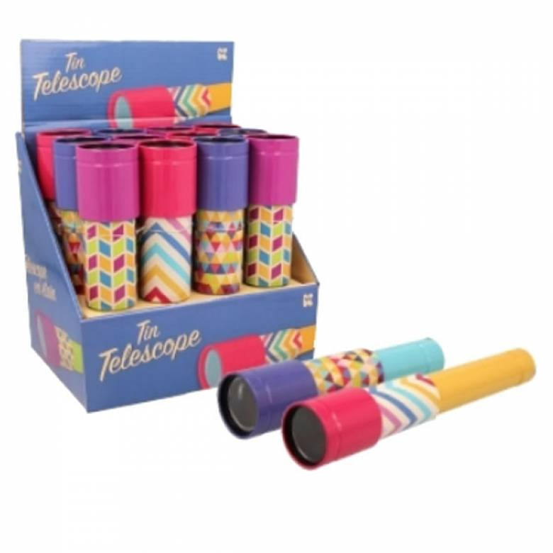 Tin Telescope With Retro Pattern 3+
