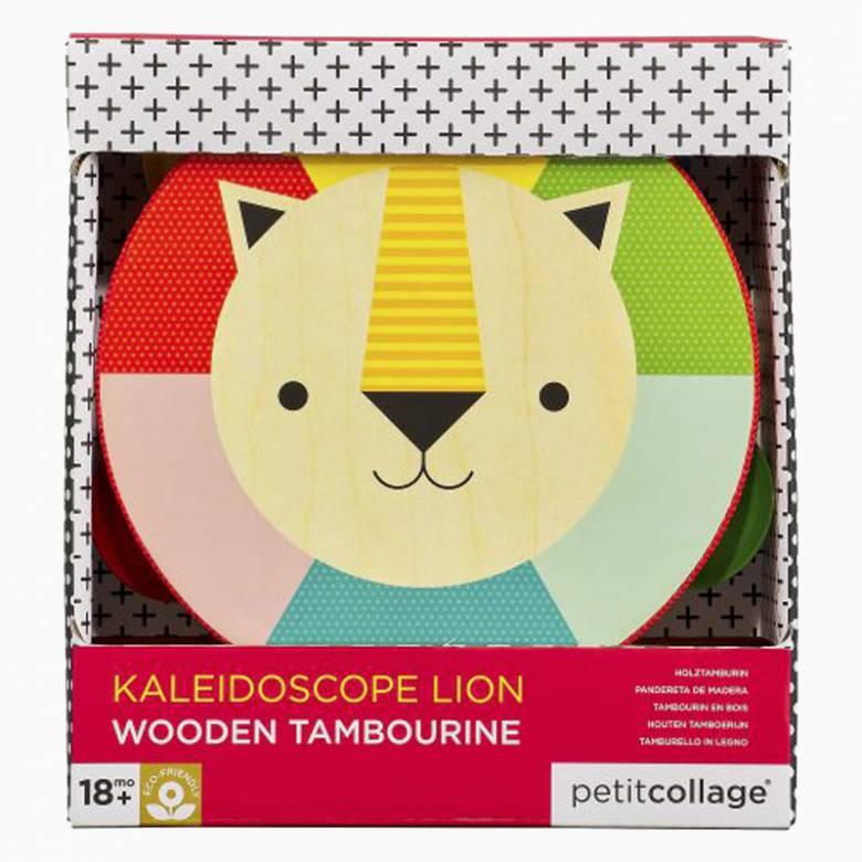 Kaleidoscope Lion Wooden Tambourine 18m+