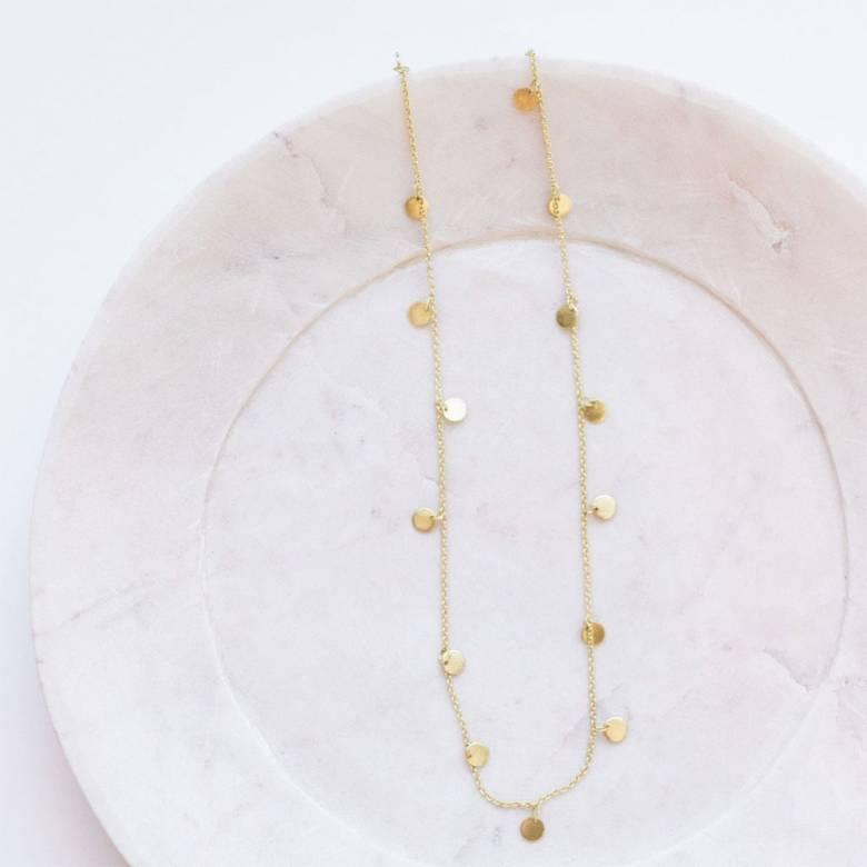 Kali Gold Disc Necklace