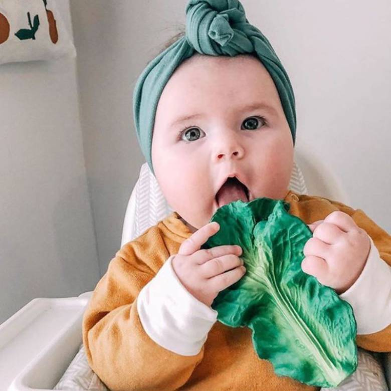 Kendall The Kale - Natural Rubber Teething Toy 0+