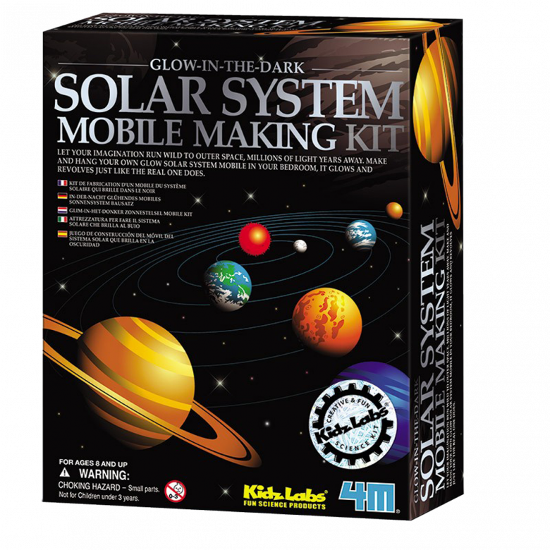 Solar System Mobile Making Kit 4M Kidz Labs