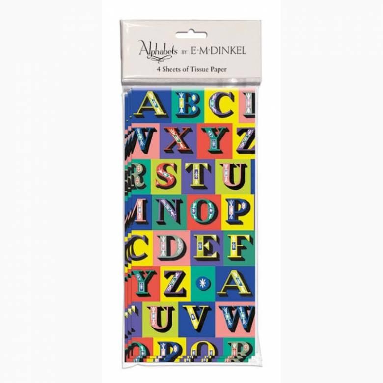 Kingfisher Alphabet Tissue Paper