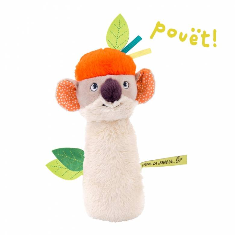 Koco Koala Squeaky Rattle Toy In the Jungle 0+