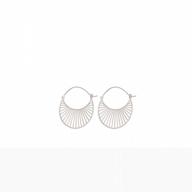 Large Daylight Hoop Earrings In Silver By Pernille Corydon