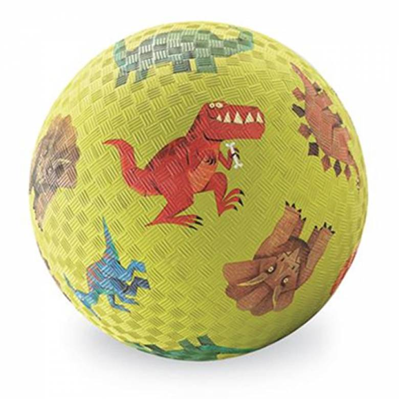 Green Dinosaur - Large Rubber Picture Ball 18cm