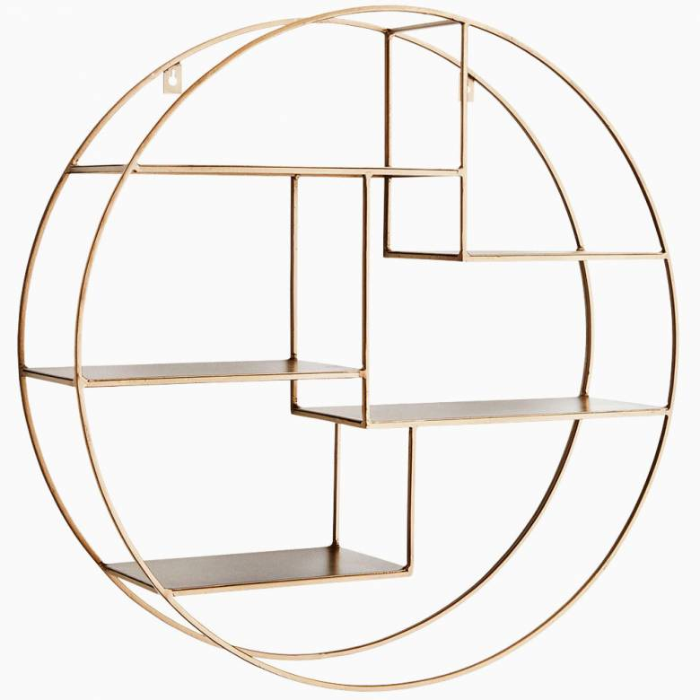 Large Gold Circular Shelves