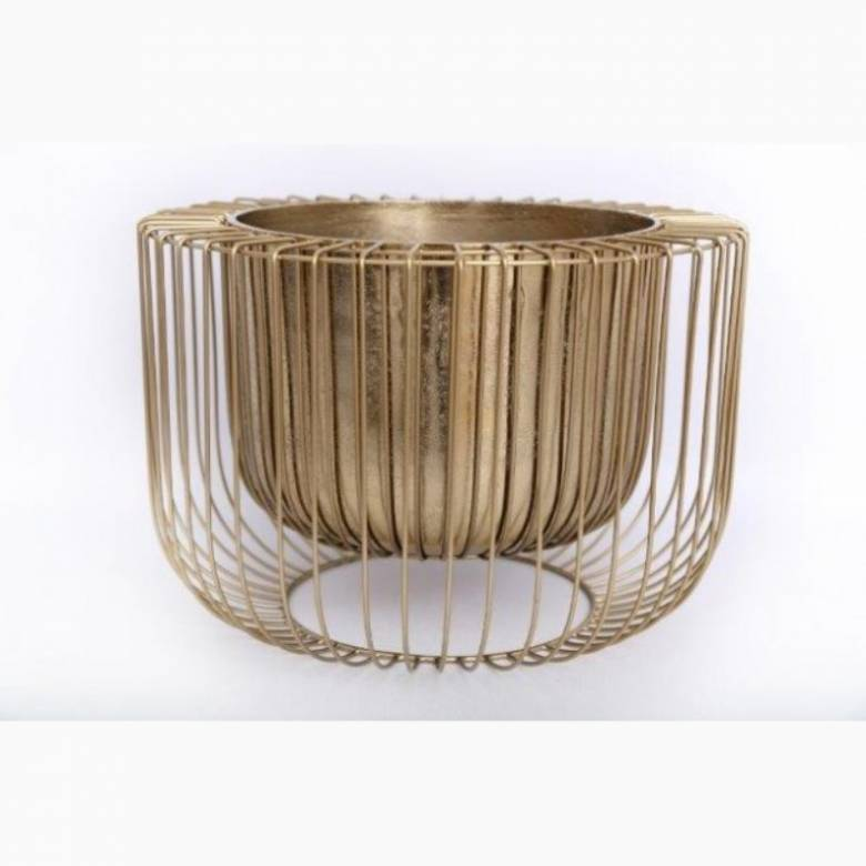 Large Gold Wire Planter
