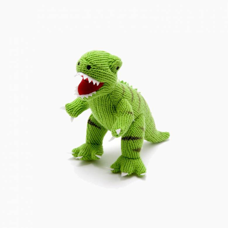 Large Knitted T Rex Soft Toy 27cm 0+