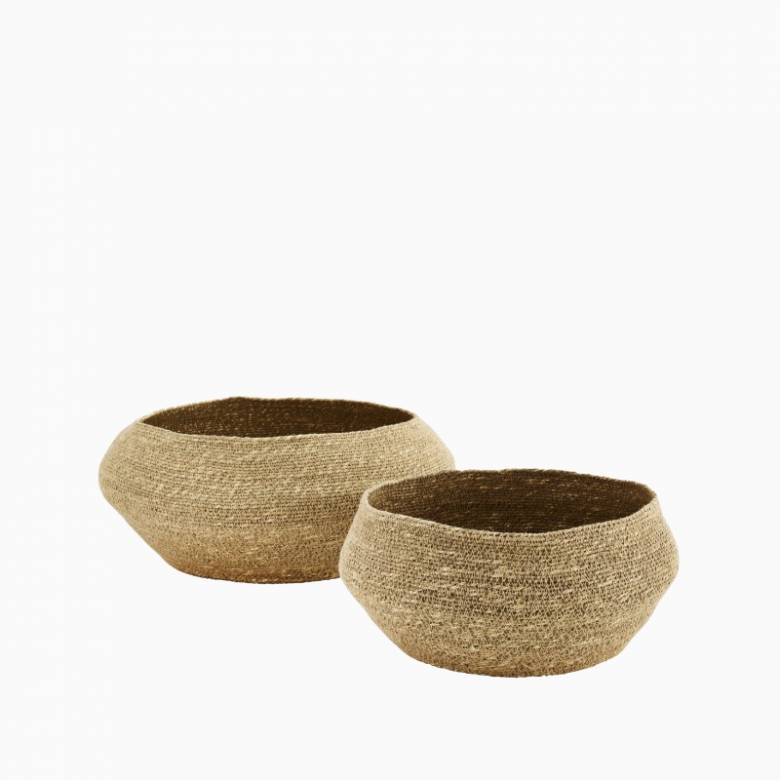 Large Natural Seagrass Basket 36x19cm
