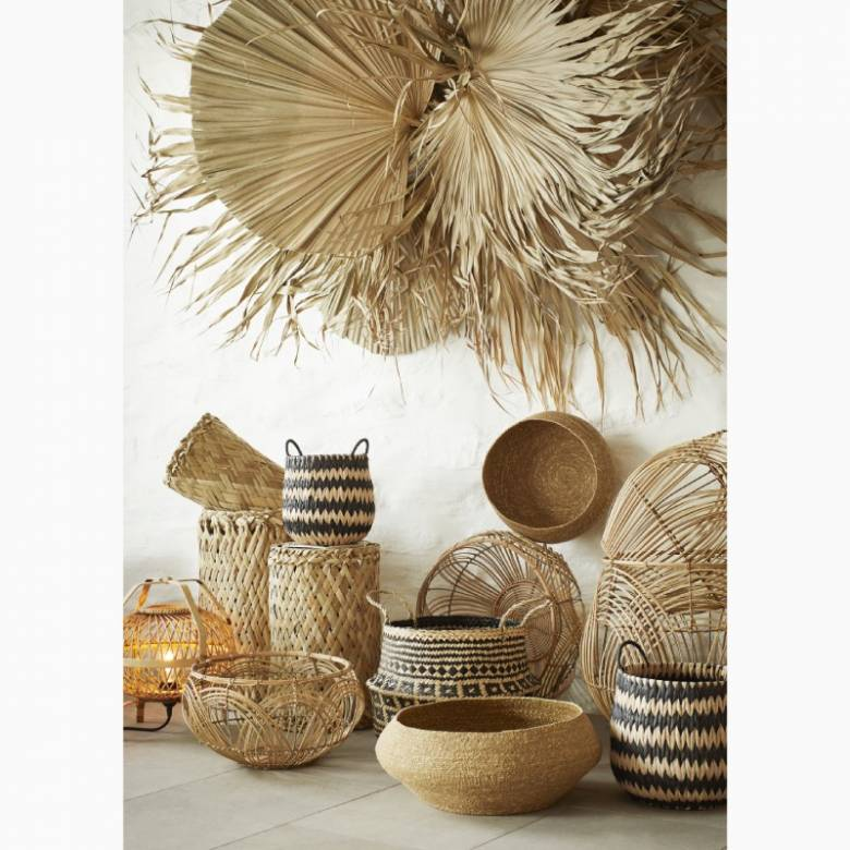 Small Natural Seagrass Basket 29x16cm