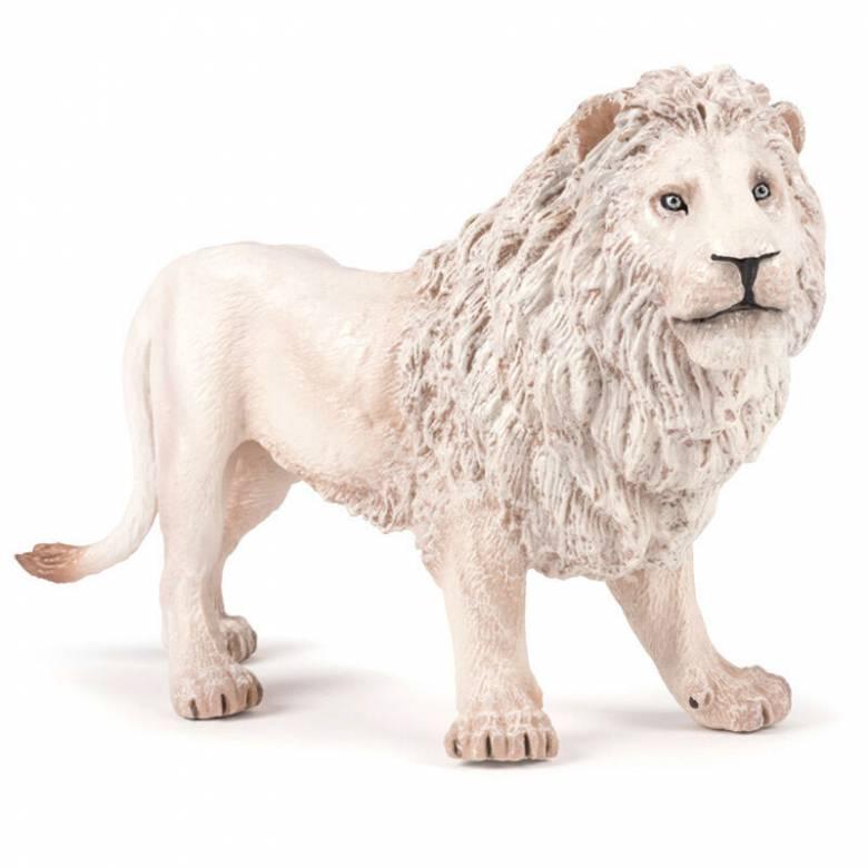 Large White Lion - Papo Wild Animal