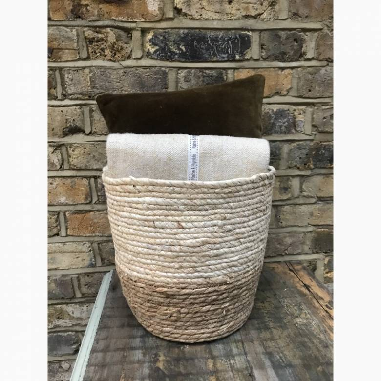 Leaf Of Cattail Two Tone Basket