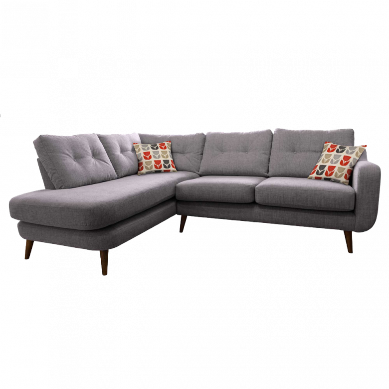 Lisbon Left Hand Corner Sofa By Whitemeadow - Fabric Grade B