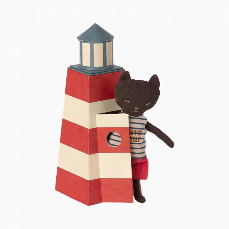 Lifeguard Cat Soft Toy With Lighthouse Chair 3+