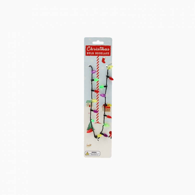 Light Up Christmas Light Necklace Xmas