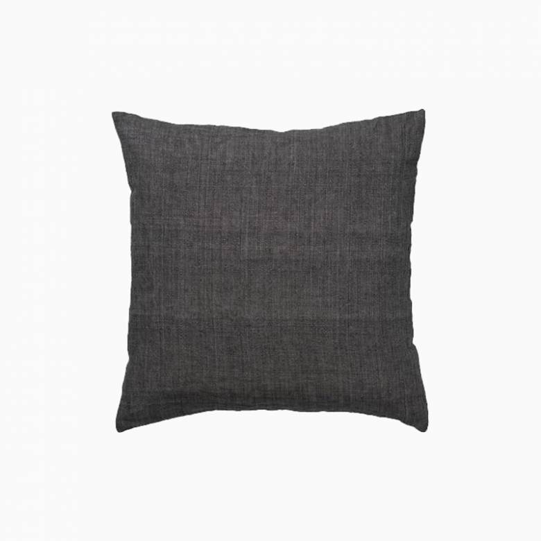Square Linen Cushion In Cole