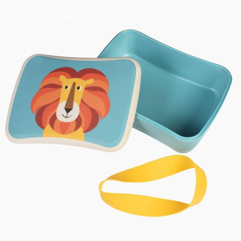 Lion Bamboo Lunch Box