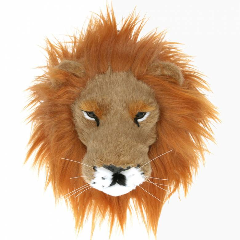 Furry Lion Head Wall Decoration