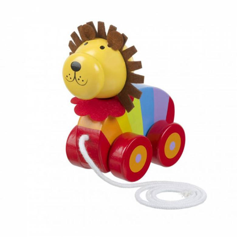Wooden Lion Pull Along Toy By Orange Tree 1+