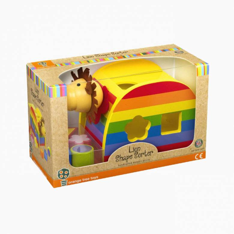 Lion Wooden Colourful Shape Sorter 1+