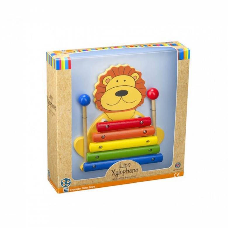 Lion Wooden Xylophone Musical Toy 1+