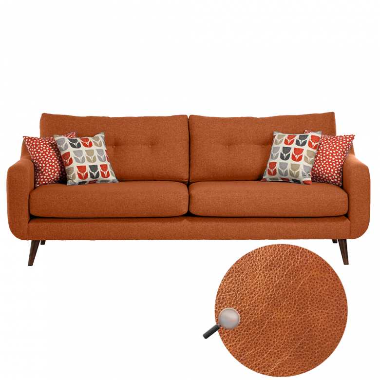 Lisbon Extra Large Sofa By Whitemeadow - Leather