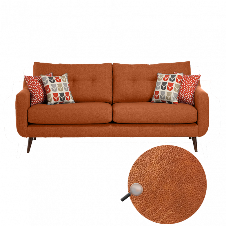 Lisbon Large Sofa By Whitemeadow - Leather