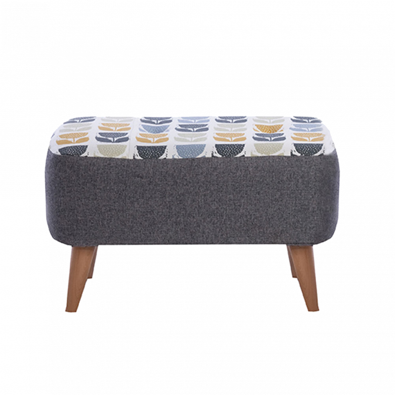Lisbon Designer Small Bench Stool By Whitemeadow- Fabric Grade C