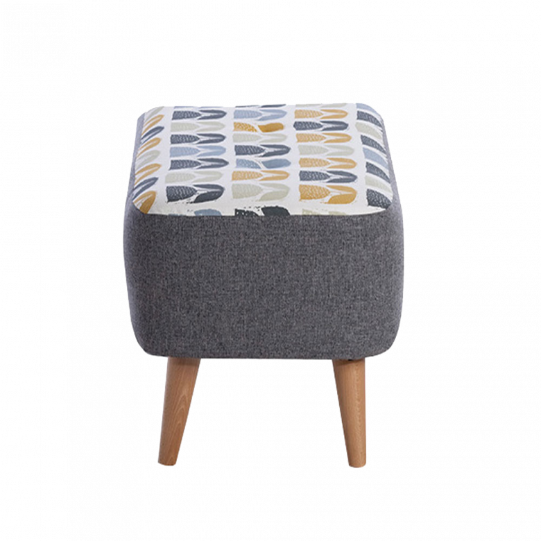 Lisbon Designer Small Bench Stool By Whitemeadow- Fabric Grade B