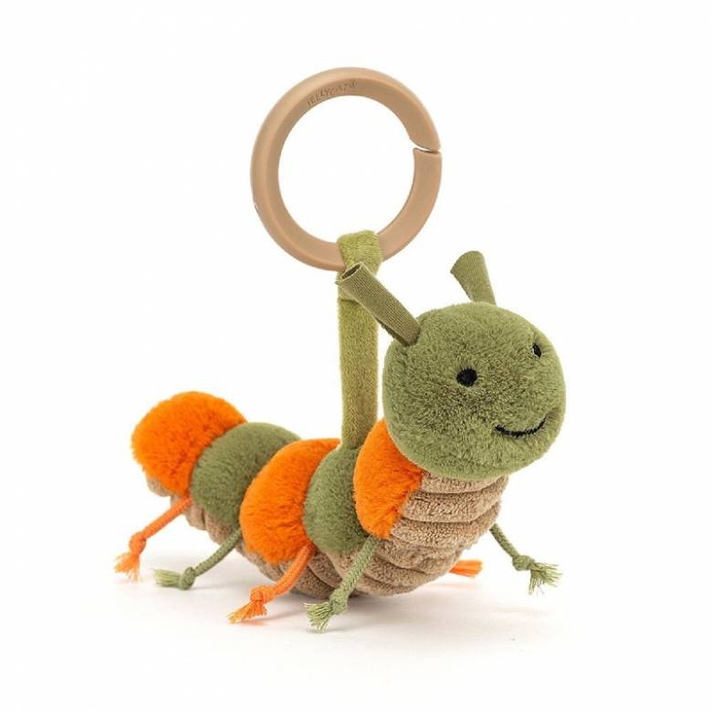 Little Christopher Caterpillar Rattle Soft Toy By Jellycat