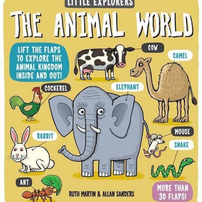 Little Explorers: The Animal World Hardback Book