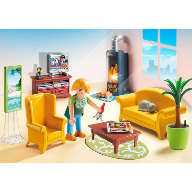 Living Room With Fireplace Playmobil 5308
