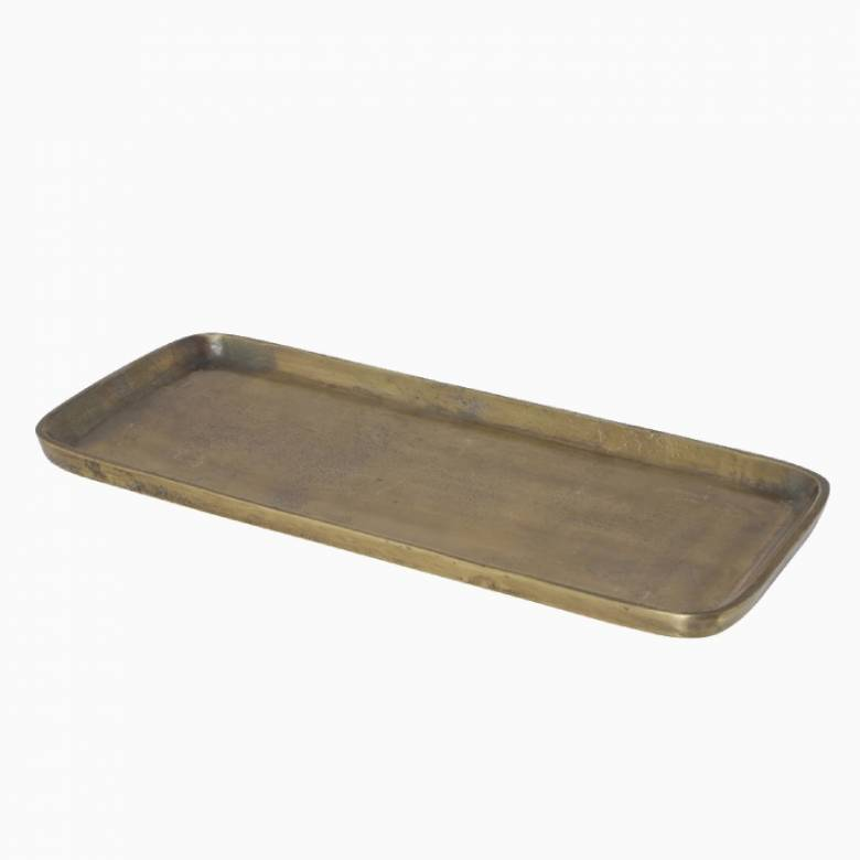 Long Antiqued Bronzed Tray 41x17.5cm