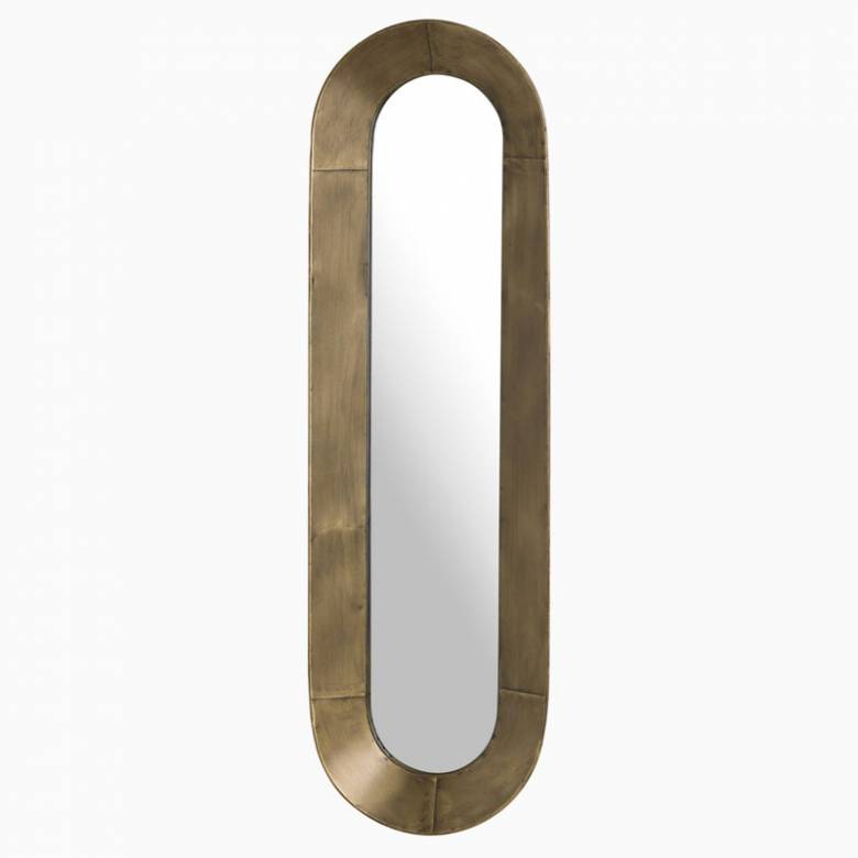 Long Curved Bronzed Mirror