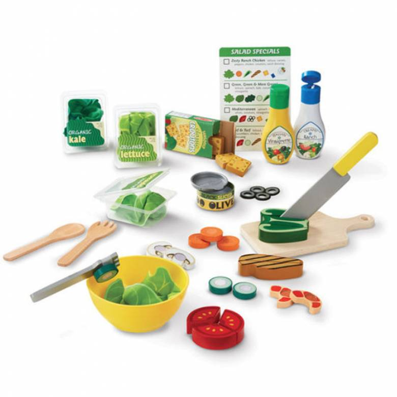 Slice & Toss Salad Wooden Play Food Set 3+