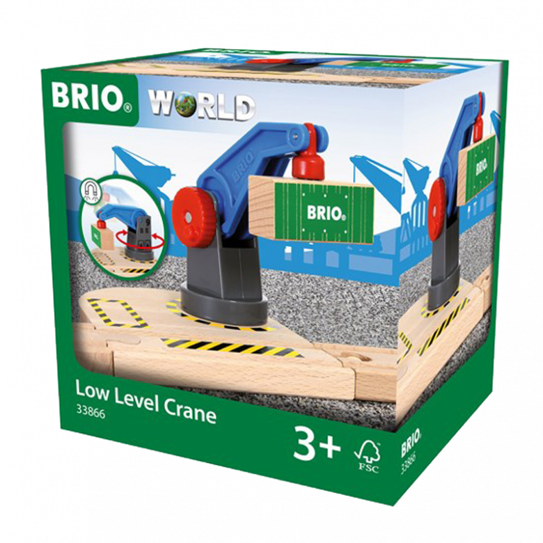 Low Level Crane BRIO® Wooden Railway Age 3+