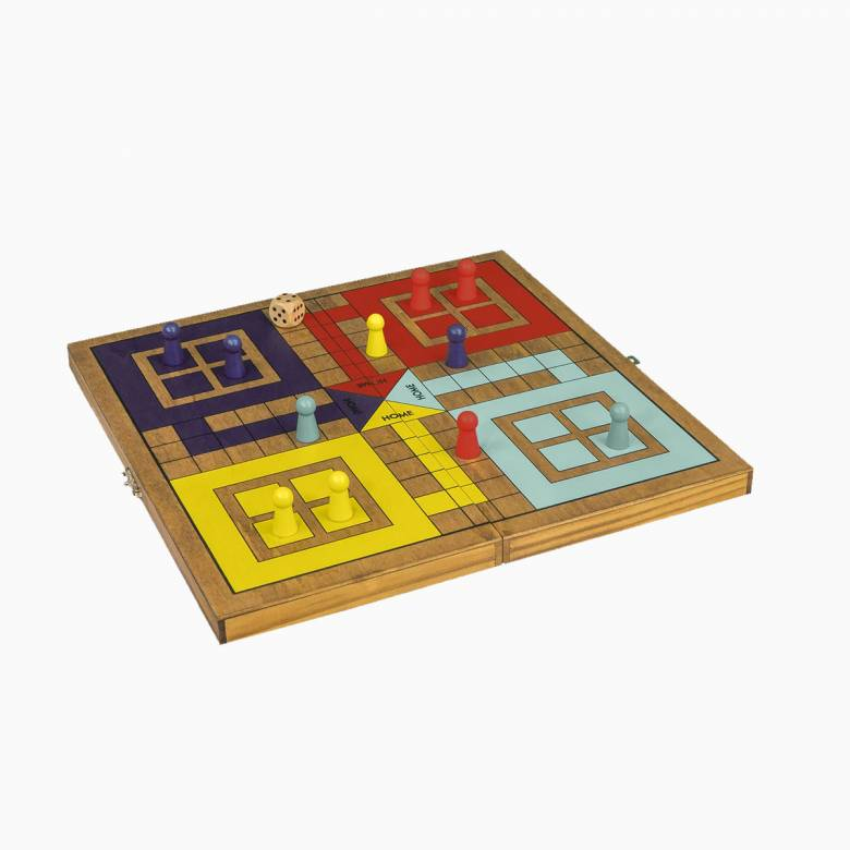 Ludo - Handcrafted Wooden Board Game 3+