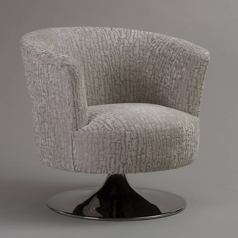 Lulu Swivel Chair By Whitemeadow - Grade E Fabric