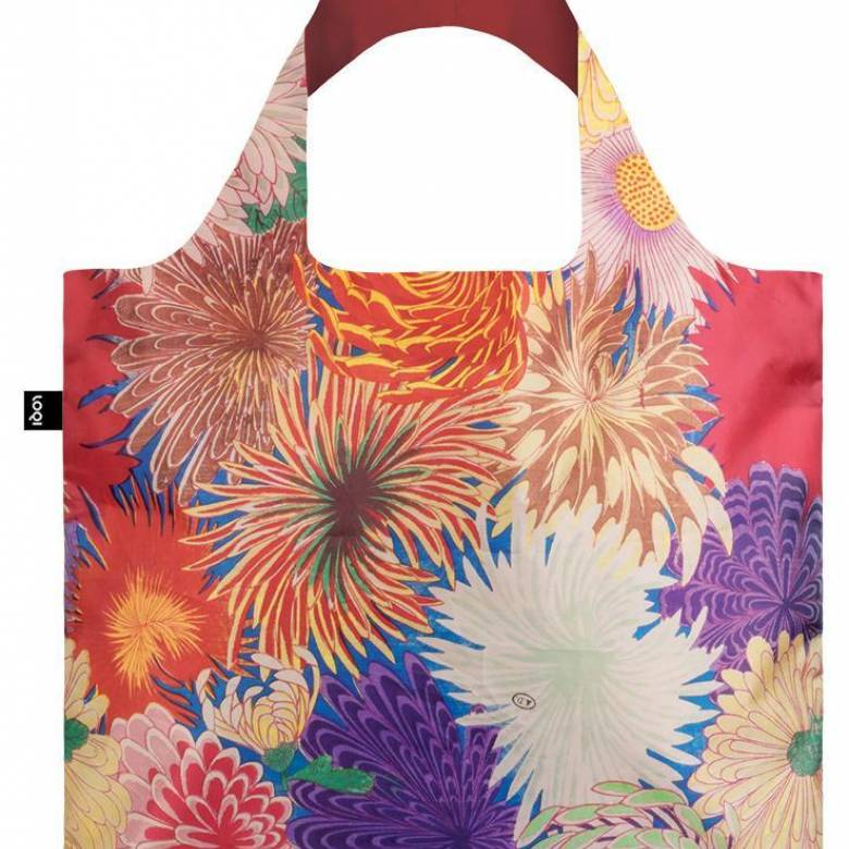 Japanese Chrysanthemum - Reusable Tote Bag With Pouch
