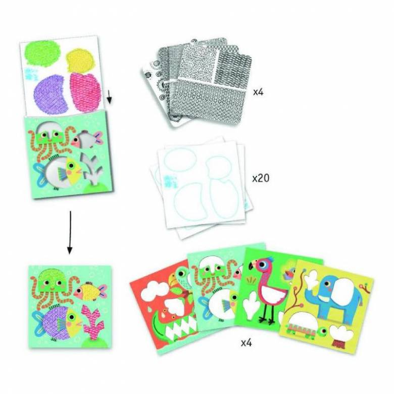 Magali's Friends - Pattern Rubbing Art Kit 3+