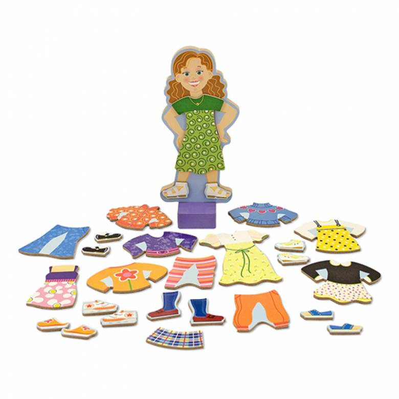 Maggie Leigh Magnetic Dress-Up Doll Game Melissa + Doug