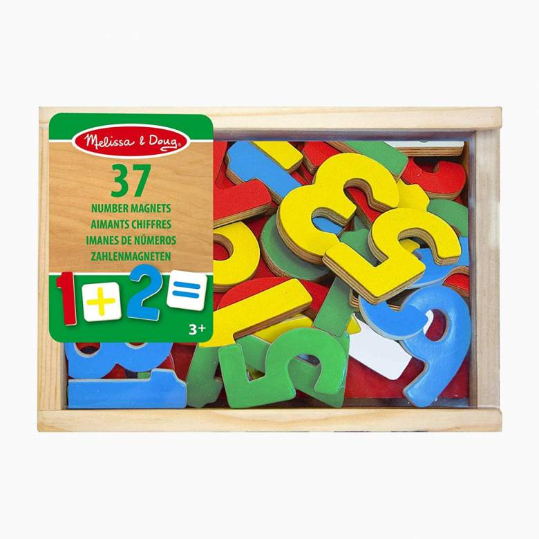 Magnetic Wooden Numbers 3+