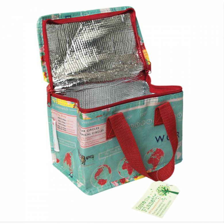 Vintage Map Insulated Lunch Bag