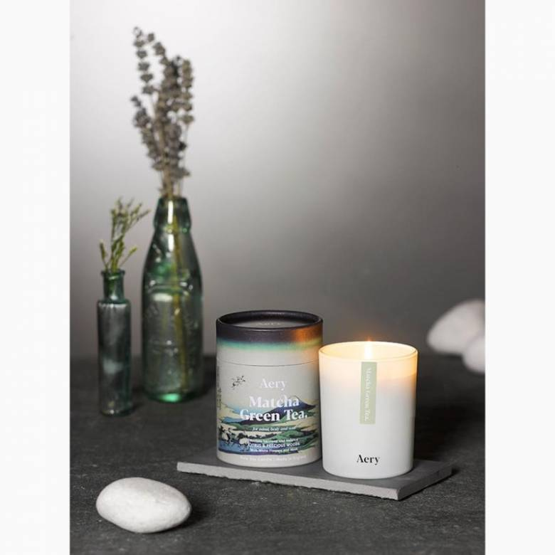 Matcha Green Tea Boxed Candle By Aery