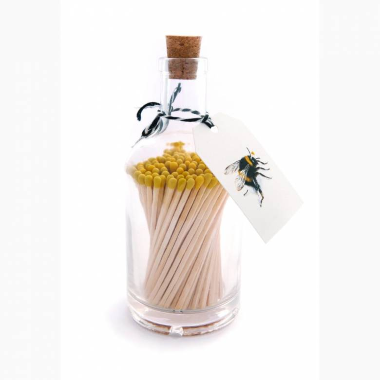Matches In Glass Bottle - Bee