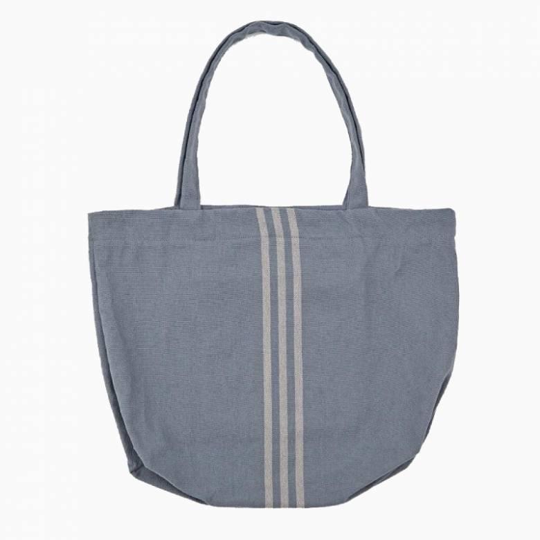 Maxime Blue & Linen Beach Bag - Recycled Plastic Bottles