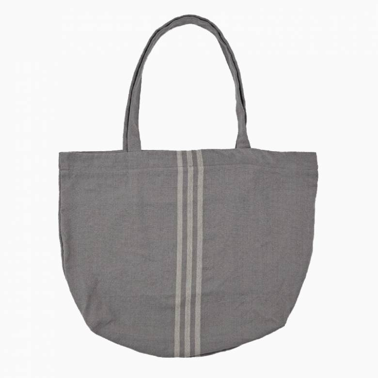 Maxime Grey & Linen Beach Bag - Recycled Plastic Bottles