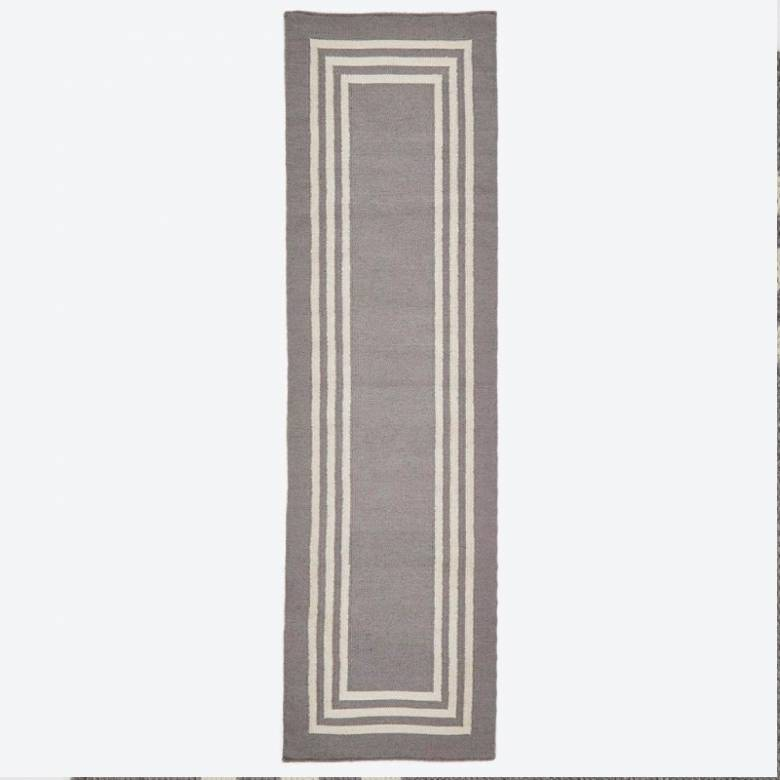 Maxime Grey Rug Runner 240x70cm Recycled Bottle Rug
